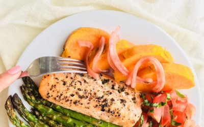 Easy one pan salmon recipe with asparagus