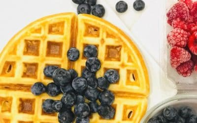 Celebrate the weekend or any day really with these fluffy on the inside and crisp on the outside Belgian waffles!